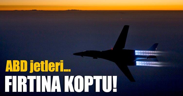 Son dakika... ABD'nin bombardıman uçakları Kore üstünde