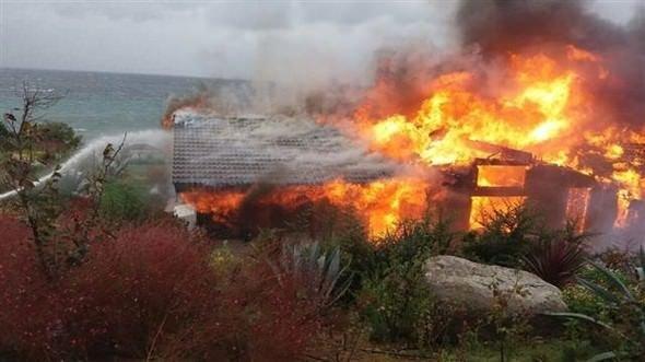Ağaoğlu'nun villası yandı!