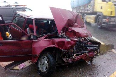 Zigana Tüneli çıkışında feci kaza: 2 ölü, 1 yaralı