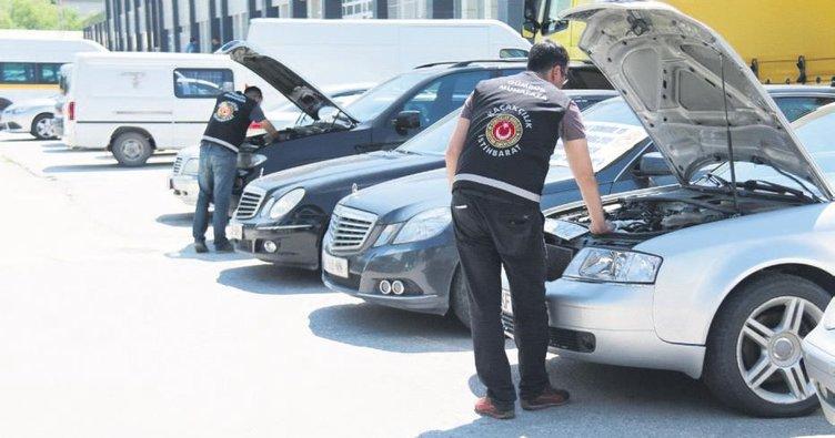 Ankara'da yabancı plakalı 20 lüks araca el konuldu