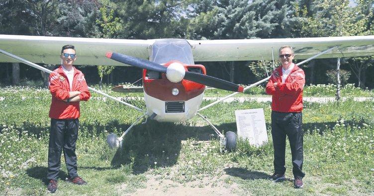 Baba-oğul Türkiye için uçacak