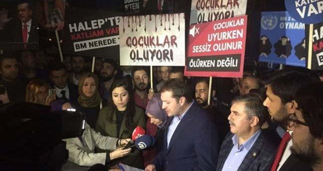 AK Parti Gençlik Kolları'ndan protesto