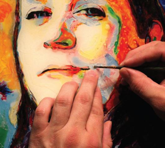 Görme engelli ressamın muhteşem çalışmaları
