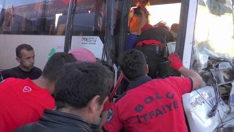 Bolu'da trafik kazası