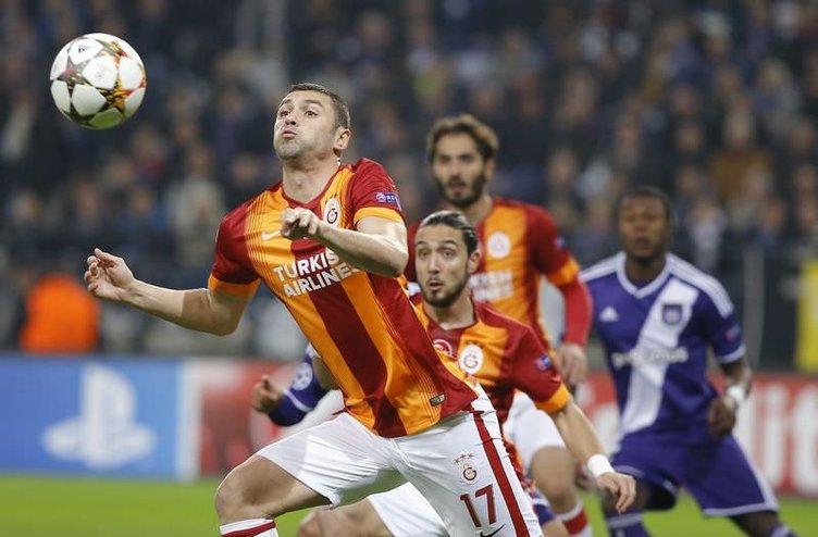Anderlecht-Galatasaray maçından kareler