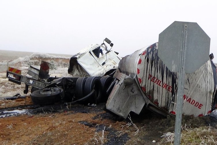 Kırıkkale'de feci kaza!