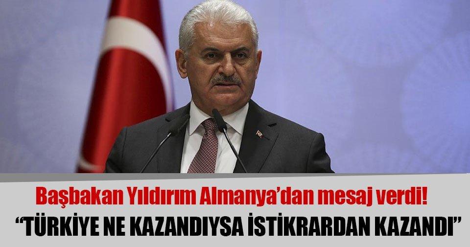 Binali Yıldırım: Türkiye ne kazandıysa istikrardan kazandı