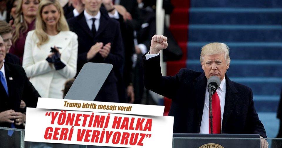 Trump: Güç yeniden halka geçti