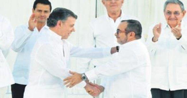 Kolombiya'daki barışa Türkiye'den tam destek