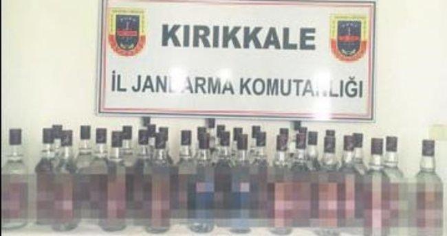 Yolcu treninde 36 şişe kaçak içki