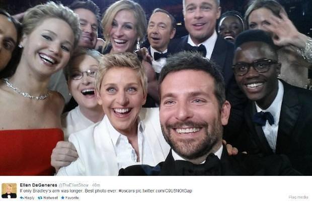 En selfie ünlüler