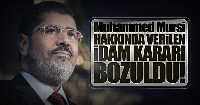 Mursi hakkında verilen idam kararı bozuldu