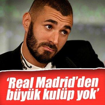 Benzema, futbolu Real Madrid'de bırakmak istiyor