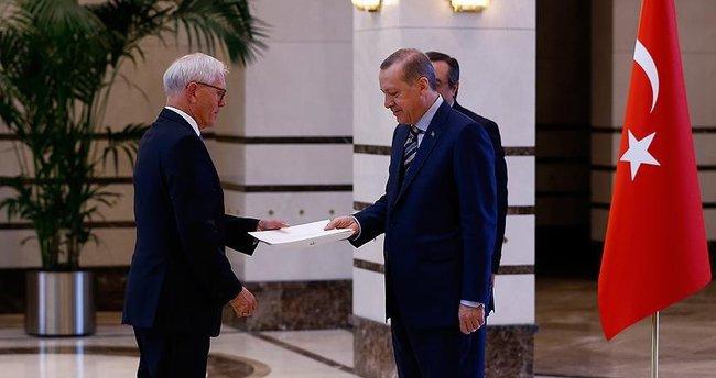 Cumhurbaşkanı Erdoğan Norveç'in Ankara Büyükelçisi Ellefsen'i kabul etti