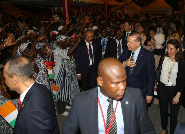 Erdoğan Fildişi Sahili'nde