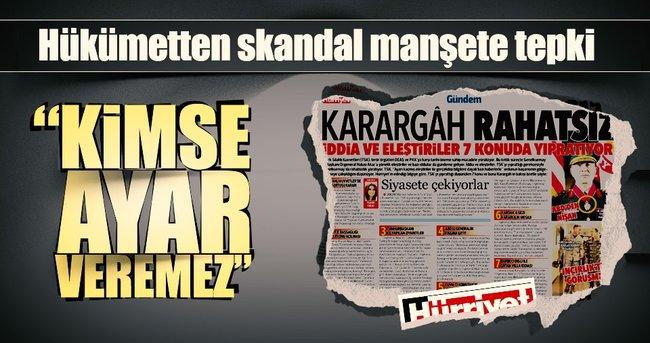Bozdağ'dan Hürriyet'in manşetine tepki: Kimse ayar veremez