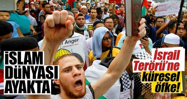 İsrail zulmüne ümmet öfkesi