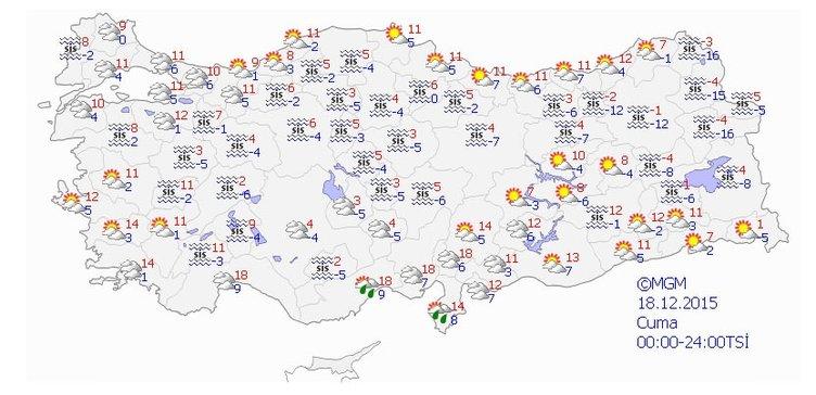 Hafta sonu hava nasıl olacak? (18-22 Aralık 2015)