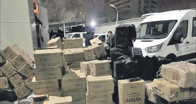 62 bin 500 paket terör sigarası duman oldu
