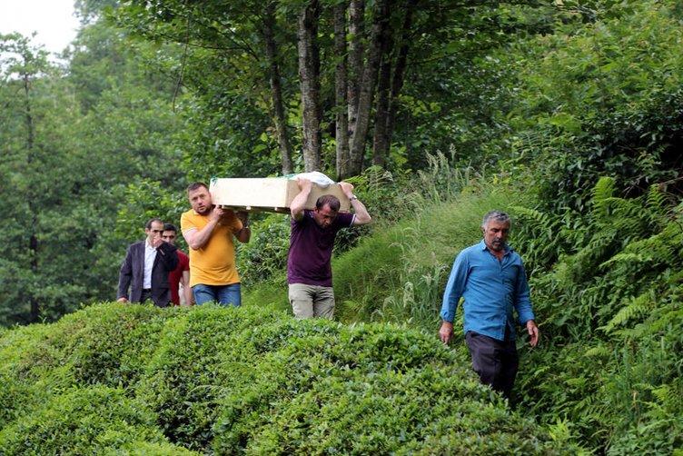 Rize'de cenazenin zorlu ahiret yolculuğu!