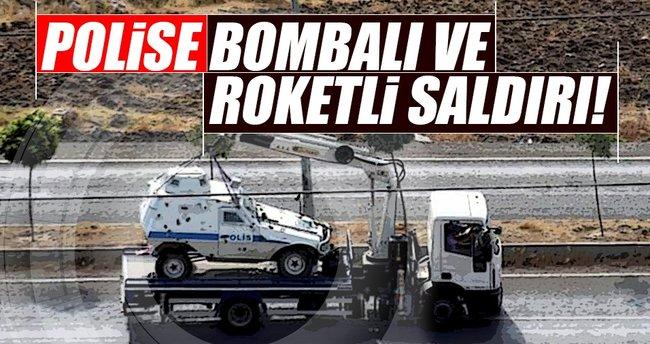 Yüksekova'da polise bombalı ve roketli saldırı!