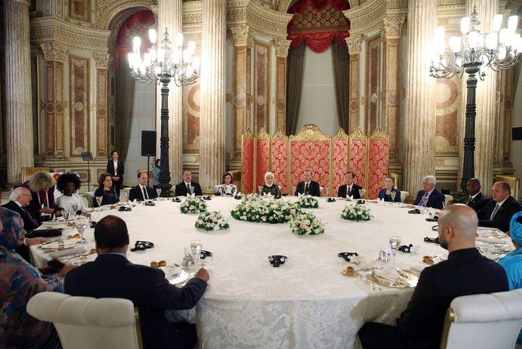 Cumhurbaşkanı Erdoğan'dan zirveye katılanlar onuruna akşam yemeği!