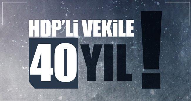 HDP'li Botan'a 40 yıl hapis istemi