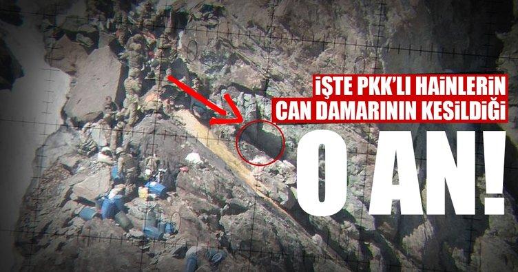 Silah deposu olarak kullanılan mağara bulundu
