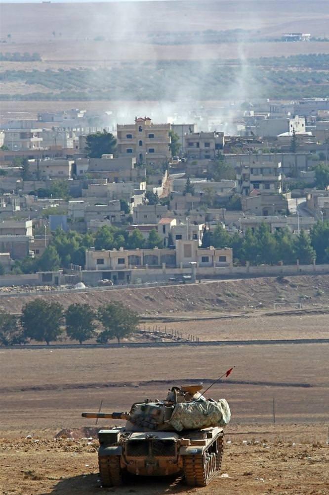 Kobani'den dumanlar yükseliyor