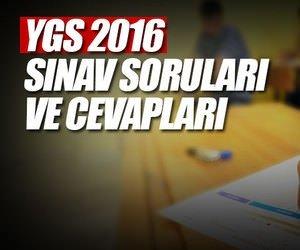 2016 YGS sınav soruları ve cevapları bu adreste! -...