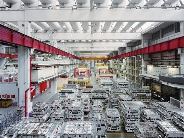 Otomobil fabrikası böyle görüntülendi