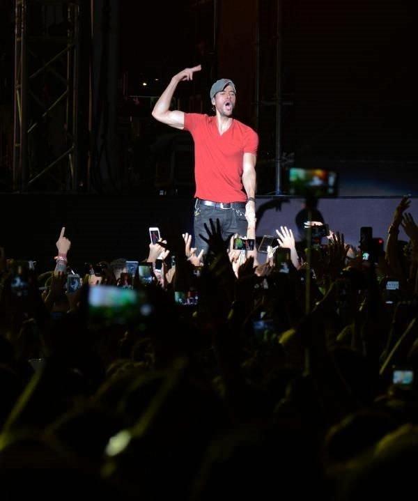 Iglesias'dan unutulmaz konser