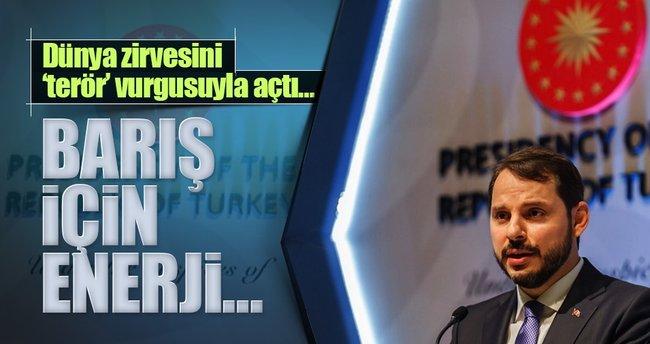 Bakan Albayrak Dünya Enerji Kongresinin açılış konuşmasını yaptı