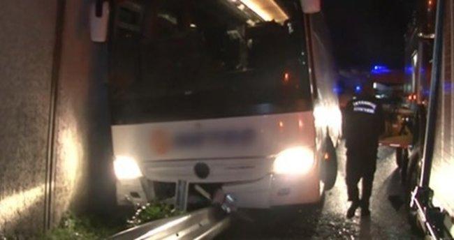 Yolcu otobüsü İstanbul'da kaza yaptı: 1 ölü