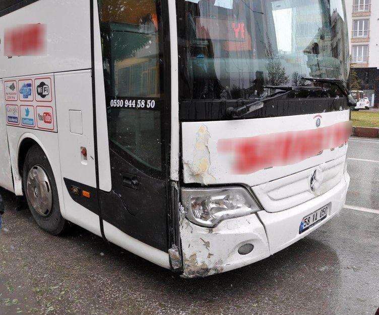 Otobüsün çarptığı otomobilden fırlayan kadın sürücü öldü