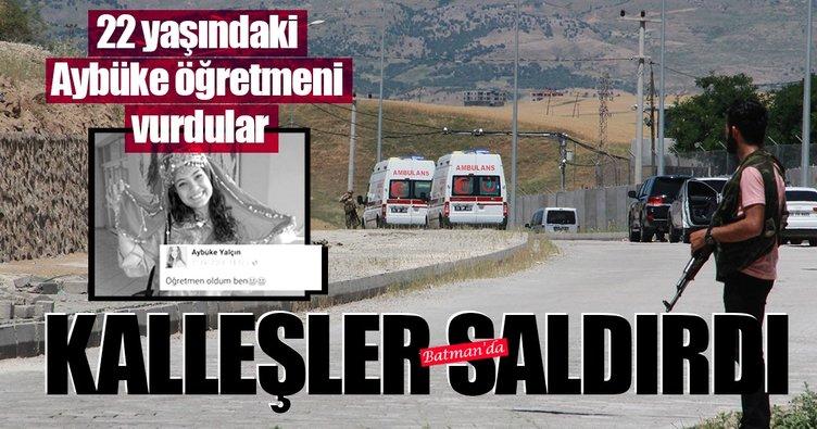 Batman'da PKK'lı teröristler 22 yaşındaki Aybüke öğretmeni vurdu