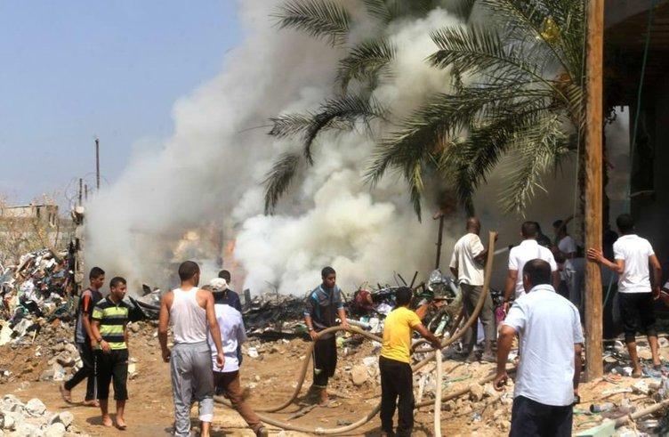 Gazze'de patlama