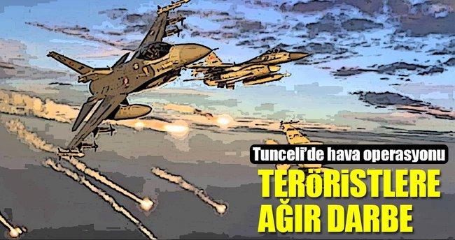 Tunceli'de teröristlere yönelik hava harekatı