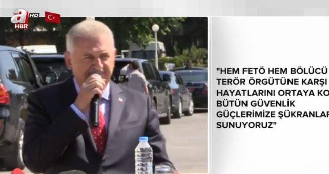 Başbakan Yıldırım Gaziler Günü törenine katıldı