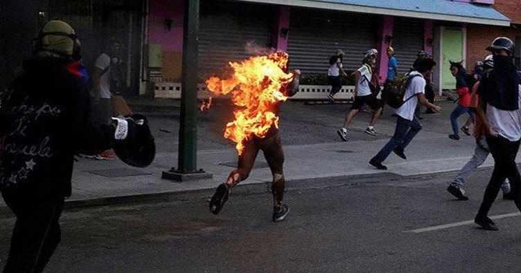 Protestocuların yaktığı genç yaşamını yitirdi