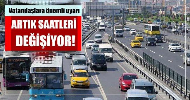 İstanbullular dikkat! İETT saatleri değişiyor