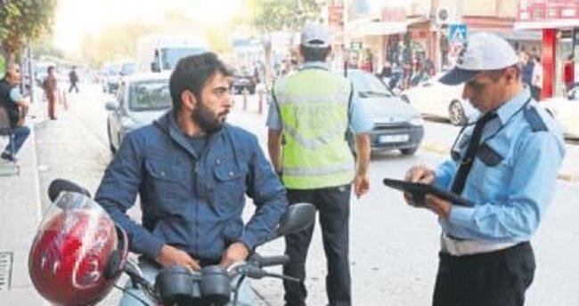 280 motosikletten 176'sına ceza yazıldı