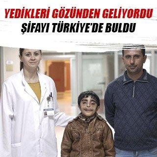 Yedikleri gözünden gelen Iraklı çocuk şifayı Türkiye'de buldu