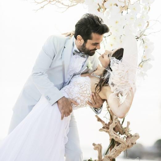 Beren Saat ile Kenan Doğulu'nun düğününden kareler