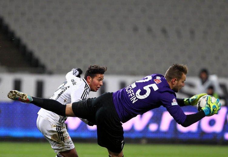 Beşiktaş - Eskişehir maçından kareler
