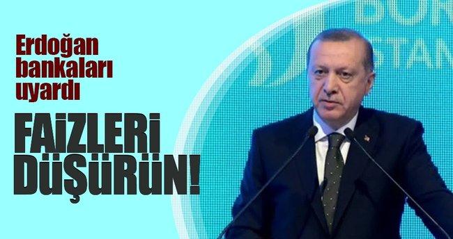 Erdoğan'dan bankalara sert uyarı: Faizleri makul seviyelere çekin