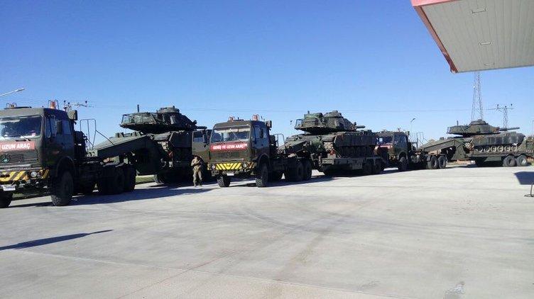 Sınıra askeri sevkiyat başlatıldı
