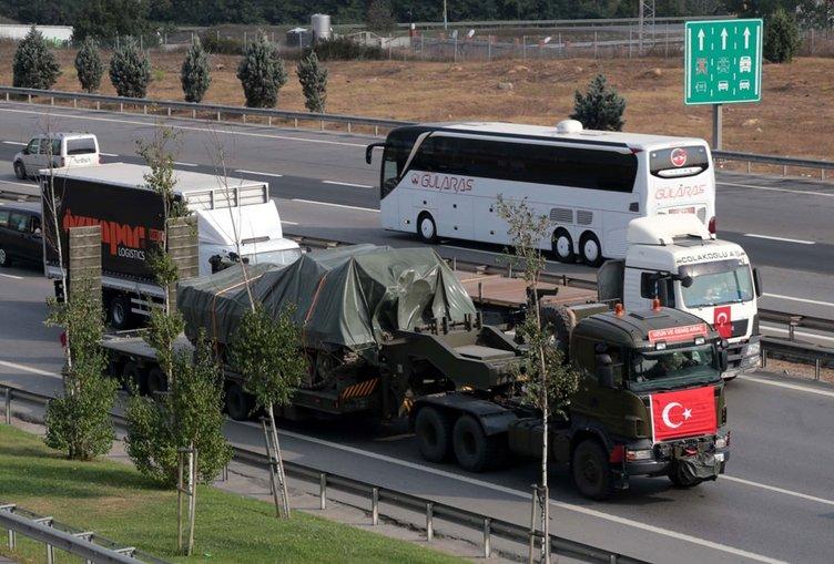 Maltepe Kışlası'ndan çıkan tanklar Gaziantep yolunda!