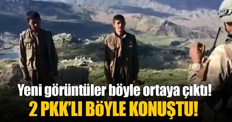 Siirt'te teslim olan 2 PKK'lı böyle konuştu