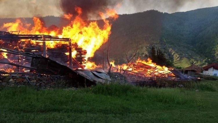 Sinop'ta 31 ev kül oldu